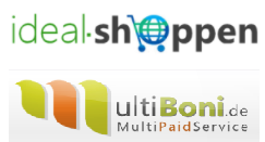 Logos Ideal-Shoppen und Multiboni