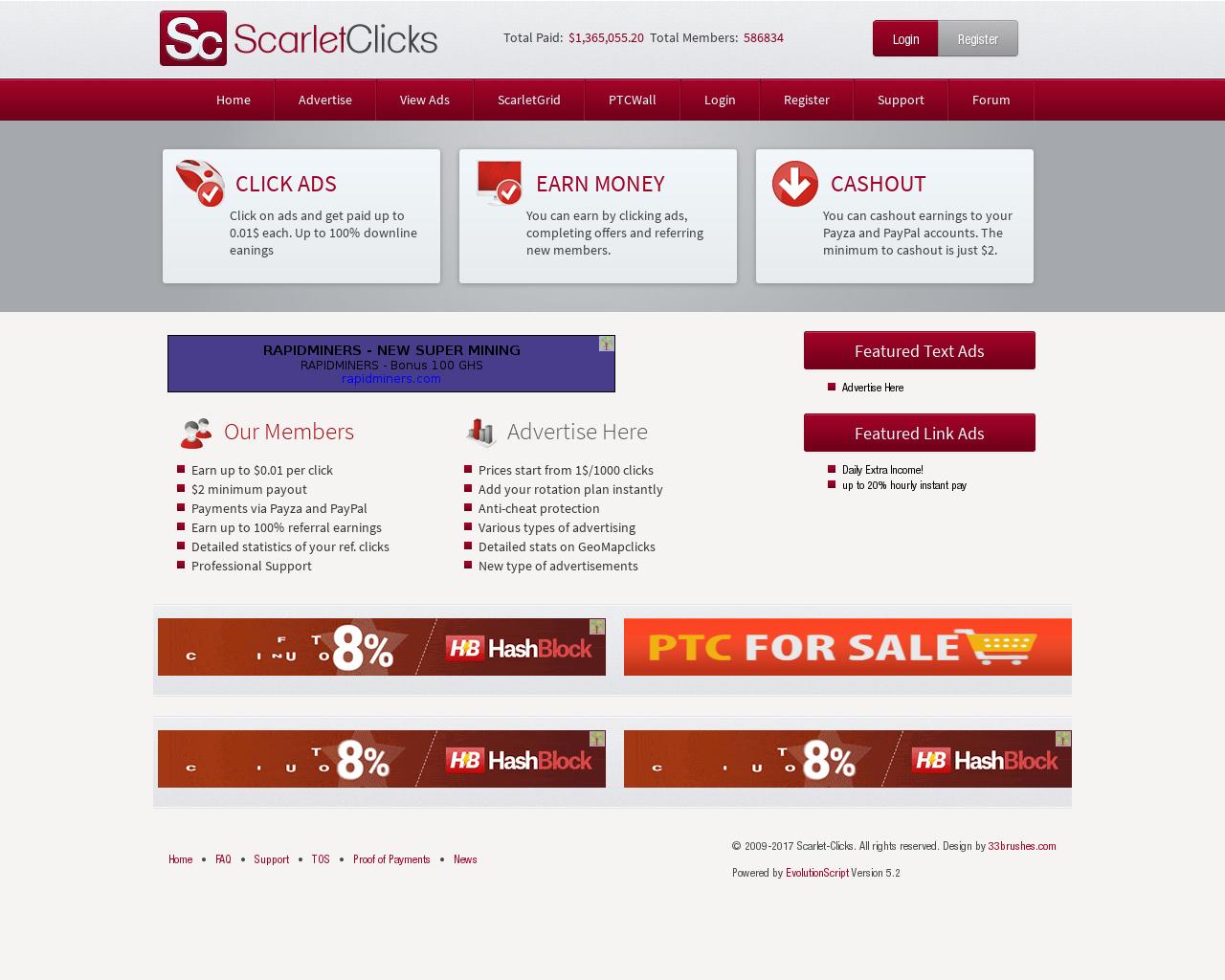 Scarlet Clicks Ist Ein Ptc Anbieter Zum Online Geld Verdienen